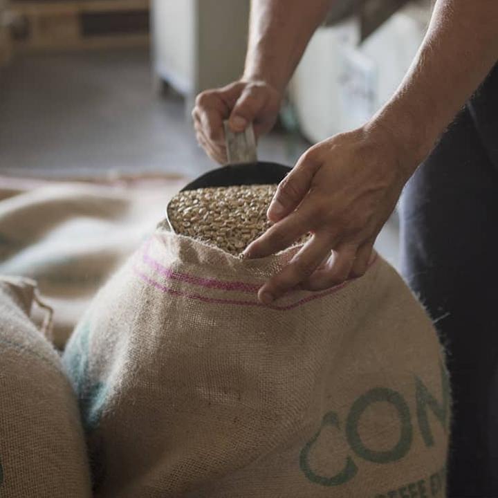 De bonen voor de Griekse koffie
