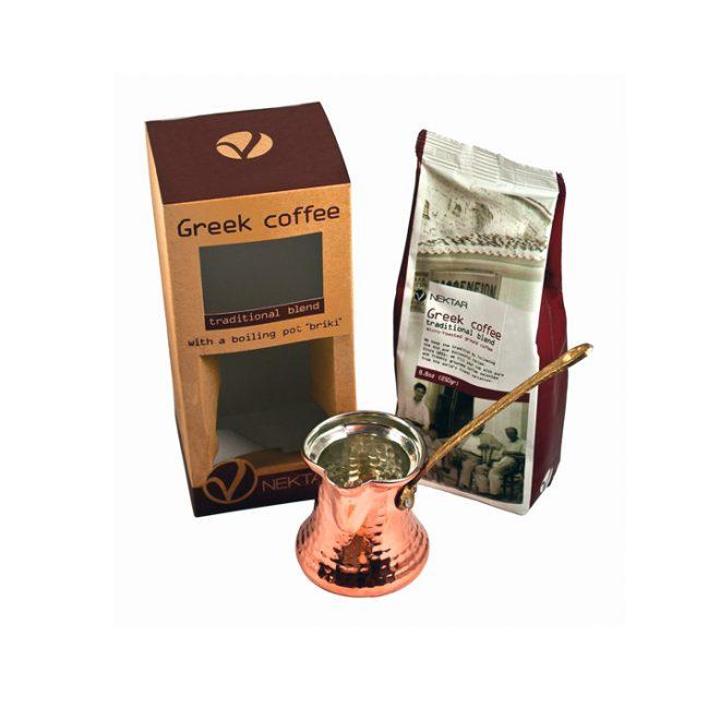 Griekse koffie met briki geschenkbox