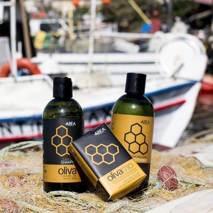 Cosmetica met olijfolie van Abea Oliva, verrijkt met honing