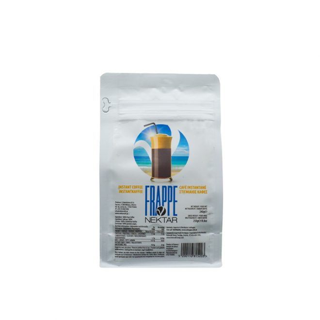 Griekse oploskoffie voor frappé van Nektar in een verpakking van 250 gram