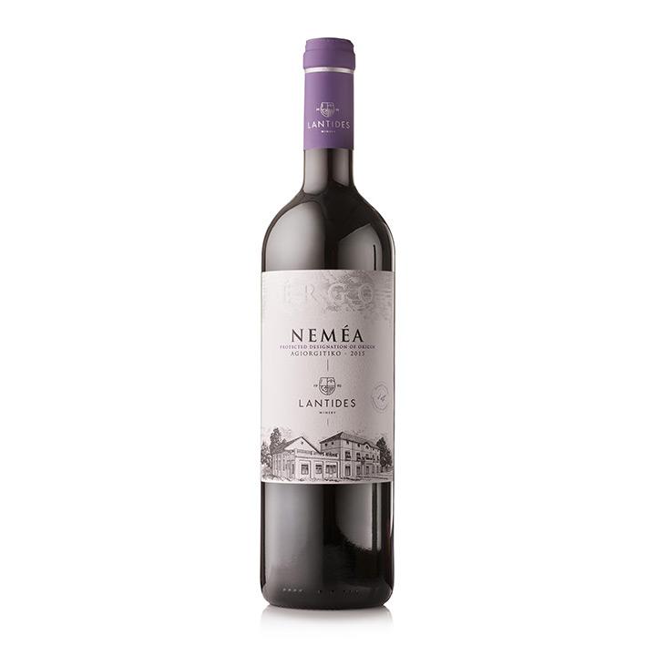 Een fles Neméa Ergo rode wijn uit Griekenland van Lantides Winery