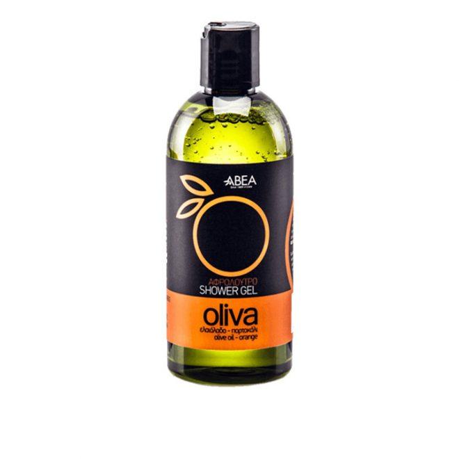 Douchegel met olijfolie en sinaasappel van Oliva