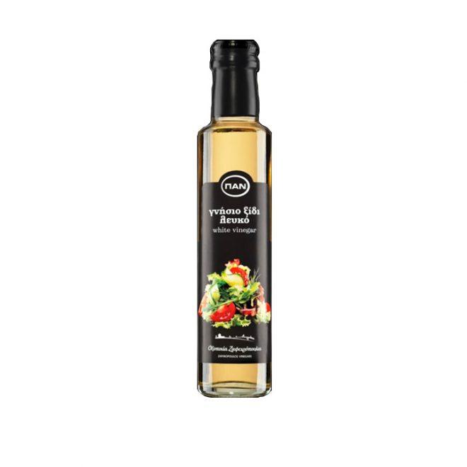 Griekse natuurlijke witte wijnazijn van Zafiropoulos