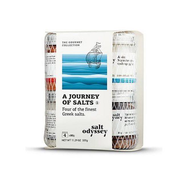 Collectie Griekse zeezouten met gerookt zeezout en gerookte paprika