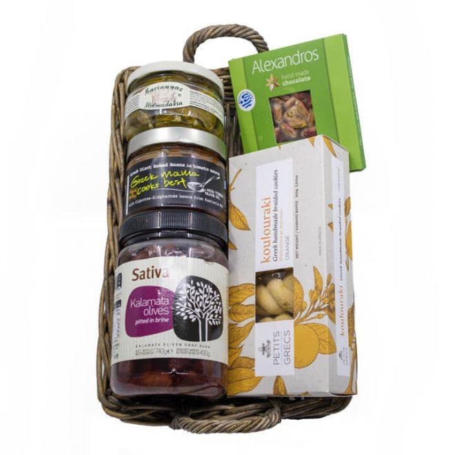 Griekse cadeaupakket Nostimo met heerlijke Griekse producten