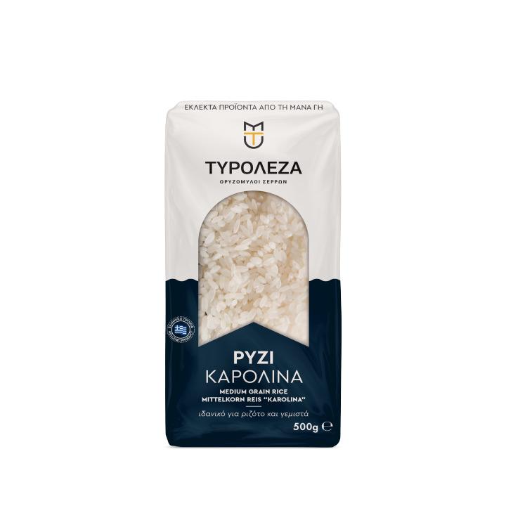 Griekse rijst voor het maken van gemista of risotto van Tyroleza