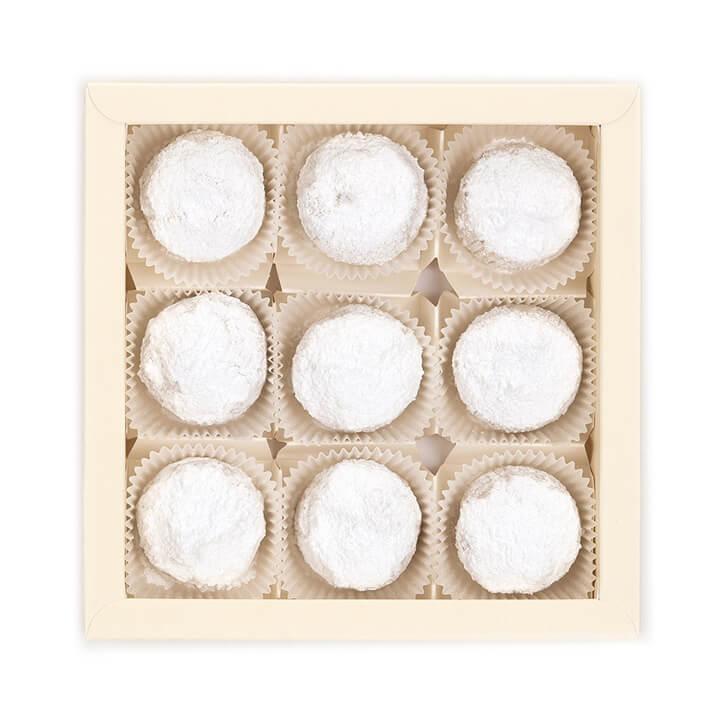 9 stuks Petits Grecs kourabiedes met vanille