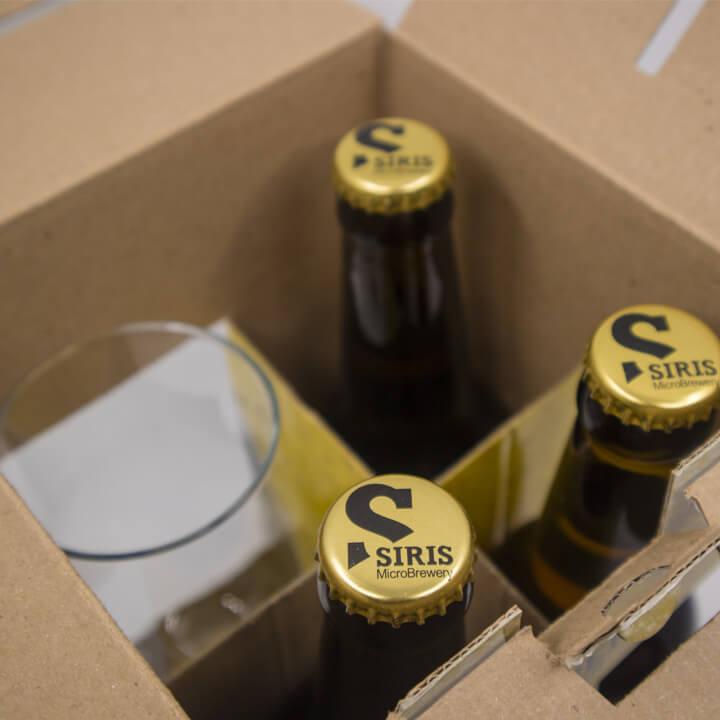 Voreia promopack met 3 biertjes en een Voreia bierglas