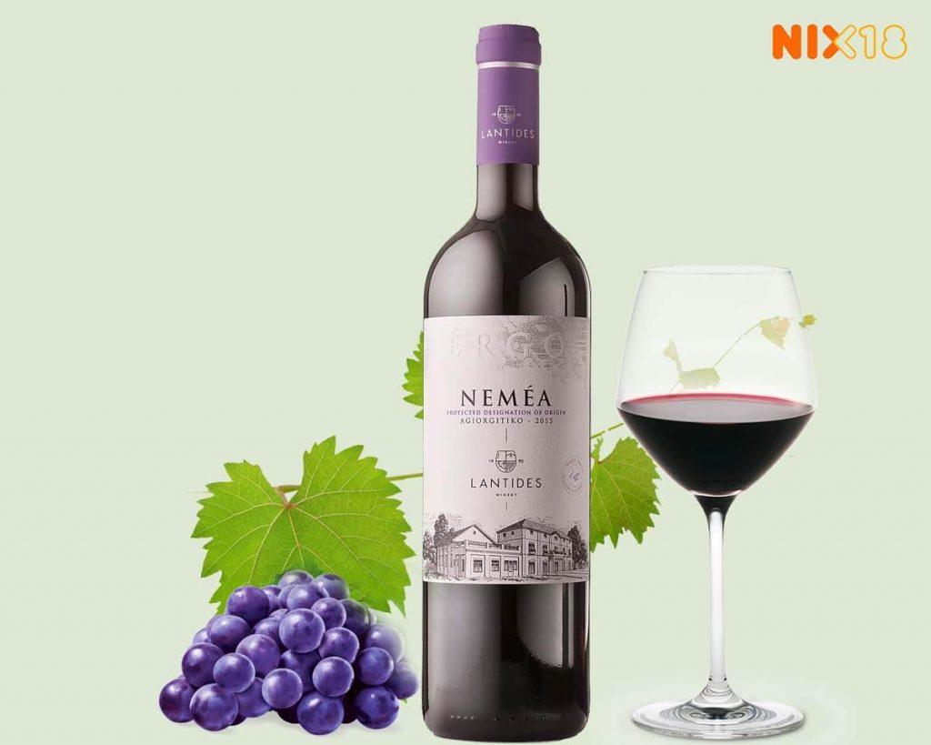 Griekse rode wijn Nemea van Lantides