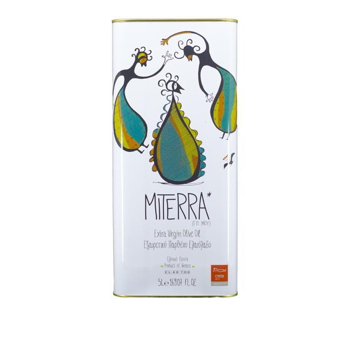 Grieks extra vergine olijfolie van MiTerra in 5 liter blik