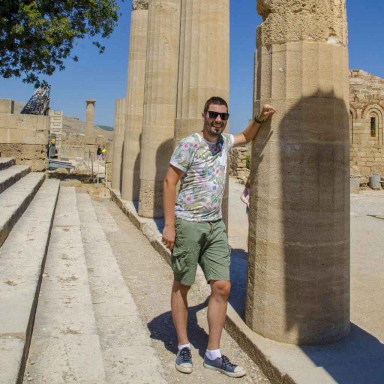 Arjan van Griekishop in Lindos, Rhodos