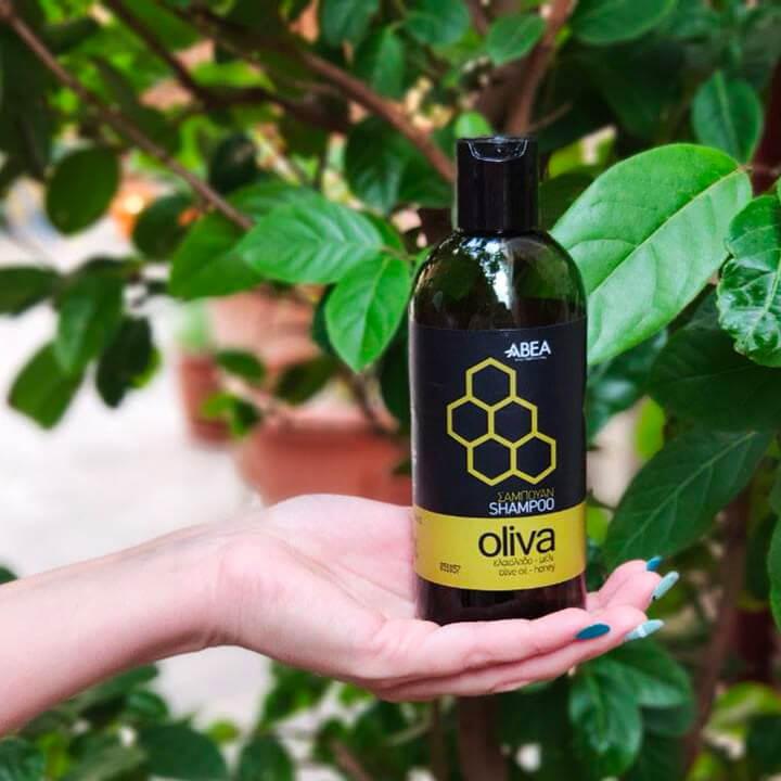 Natuurlijke shampoo met olijfolie en honing van Oliva