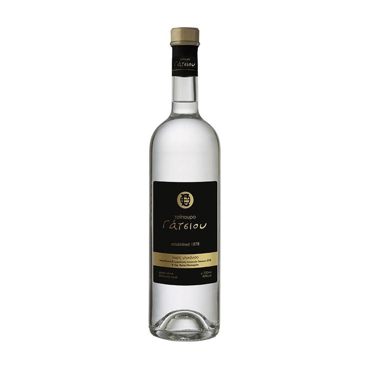 Tsipouro fles van 700 ml zonder anijs uit de Epirus van Gatsios