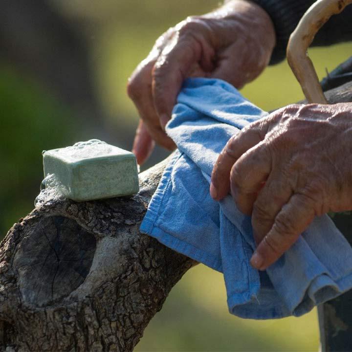 Natuurlijke groene olijfzeep van Oliva
