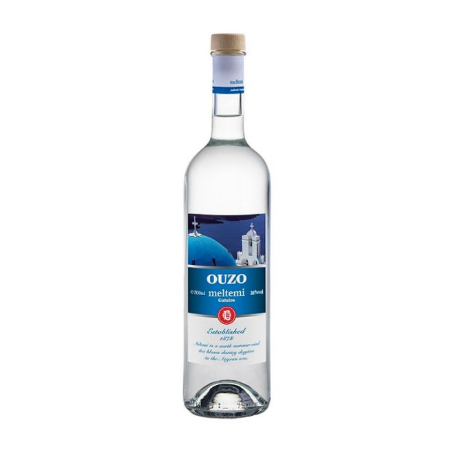 Ouzo Meltemi in een fles van 700 ml van Gatsios Distillery uit Epirus