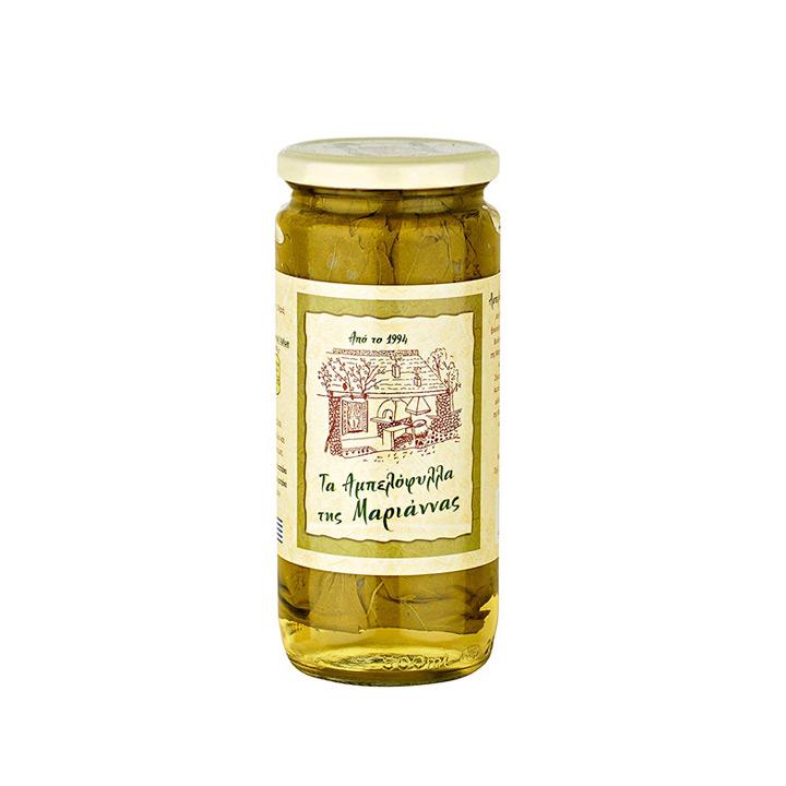 Griekse wijnbladeren van Marianna's in potje van 200 gram