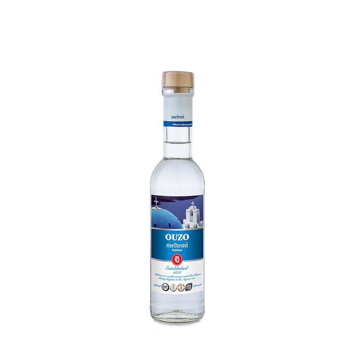 Gatsios ouzo Meltemi in een flesje van 200 ml
