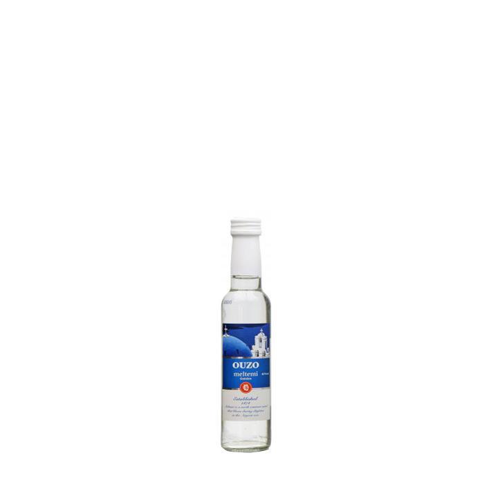 Miniatuur flesje ouzo van Gatsios, Meltemi ouzo 50 ml