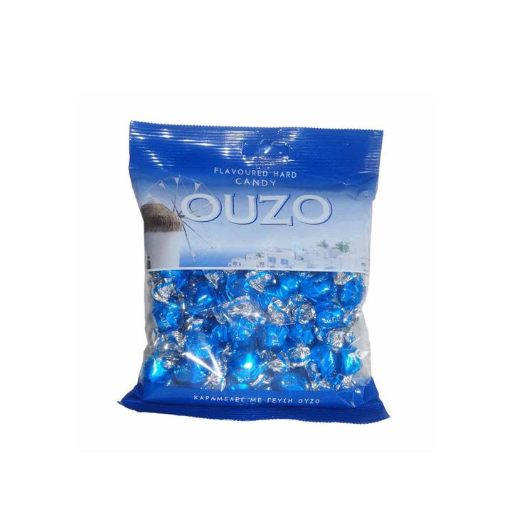 Griekse ouzo snoepjes in een zak van 200 gram
