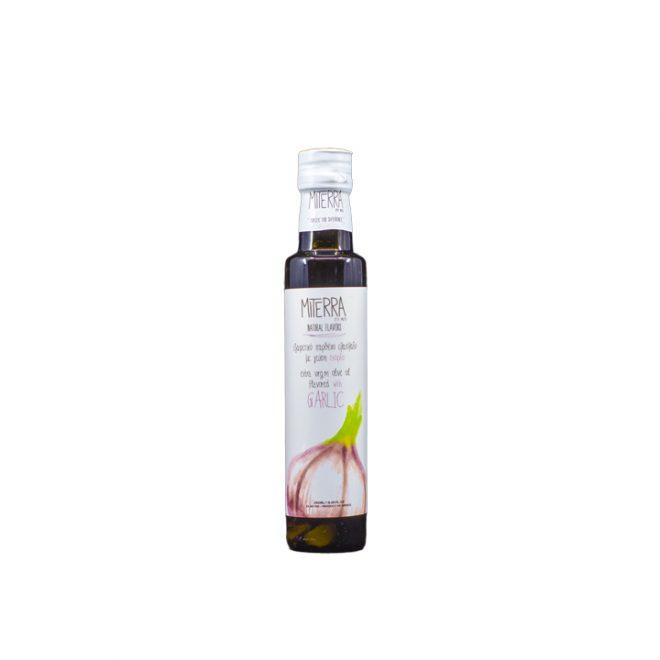 Griekse extra vergine olijfolie met knoflook
