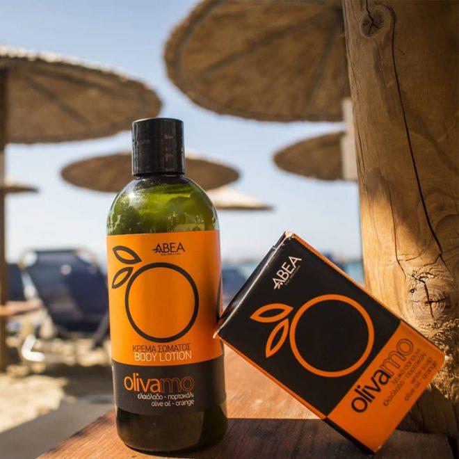 Het zomerse gevoel met olijfzeep sinaasappel