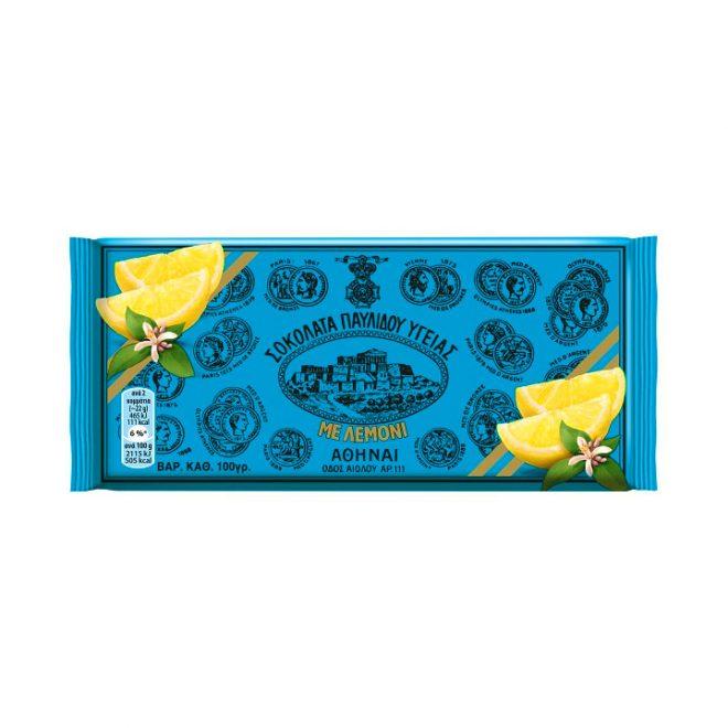 Griekse pure chocolade van Pavlidis met citroen