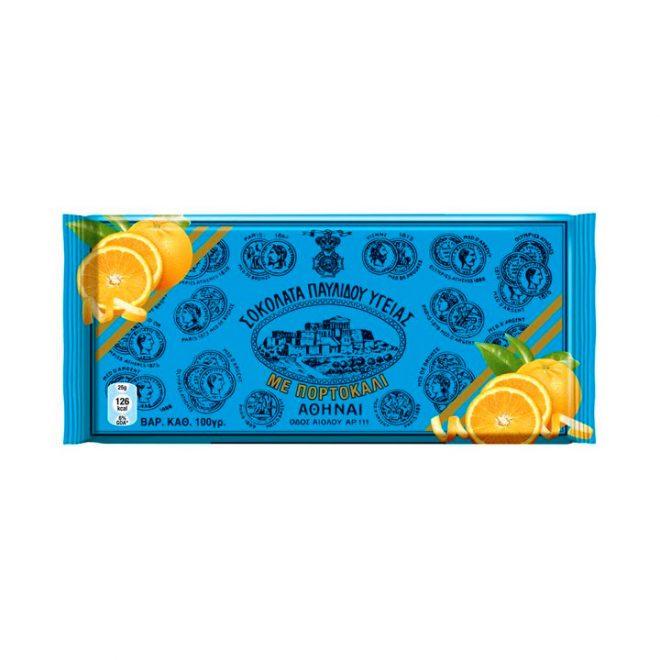 Griekse pure chocolade met sinaasappel van Pavlidis