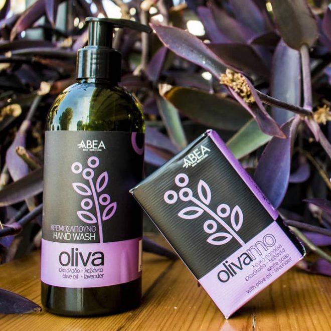 Cosmetica met olijfolie verrijkt met lavendel