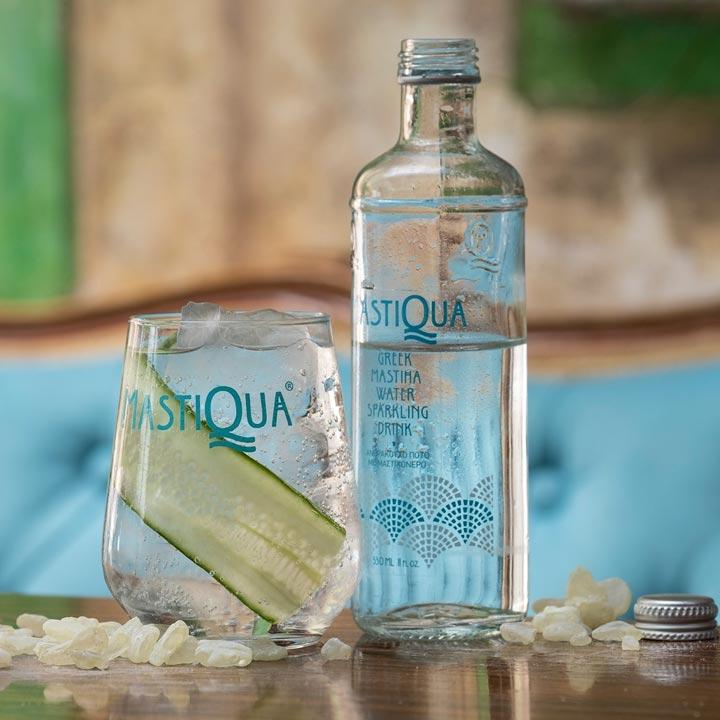 MastiQua Greek sparkling mastiha water